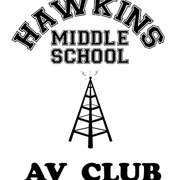 Hawkins AV Club Retro Vintage by teachertees
