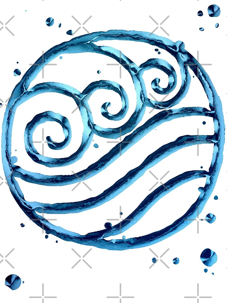 Legend Of Korra Avatar Water Tribe Symbol By Chateauteabag Redbubble