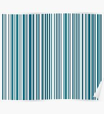 Barcode Quooki Barcode Teal Poster