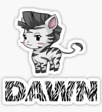 Zebra Dawn Sticker