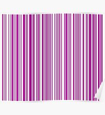Barcode Quooki Barcode Violet Poster