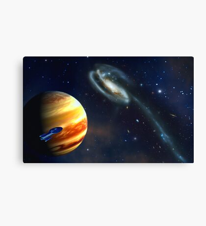 Dark Voyager - Beyond the Reefs of Space. Canvas Print