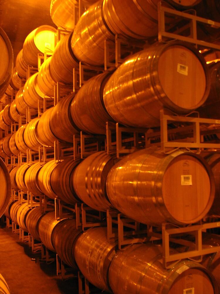Wine Barrels, Napa 2008 by Mohita Mohan