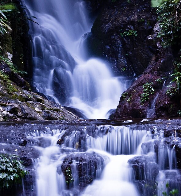 Elebana Falls Green Mountain by RhondaR