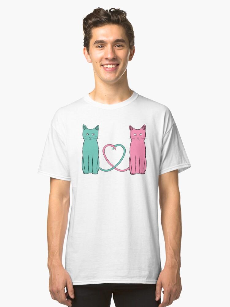 Alternate view of Cat Love Classic T-Shirt