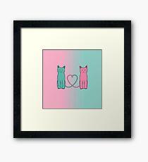 Cat Love Framed Print