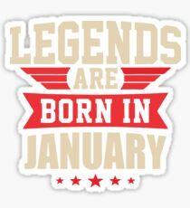 Legend Are Born In January Merchandise Sticker