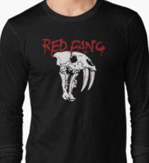 MOST POPULAR AJ740 Red Font B Fang B Font Logo With Skul  Prehistoric Dog Tshirt Black Men Crazy Camisa Best Product Long Sleeve T-Shirt