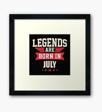 Legend Are Born In July Merchandise Framed Print