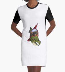 Ultimativer Schwimmer T-Shirt Kleid