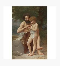 Jules Cyrille Cave B. FRENCH LESSON OF FLUTE Photographic Print