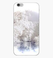 Winter Alpine Lake Scene iPhone Case