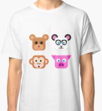 Cute Animal Friends Vector Classic T-Shirt