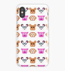 Cute Animal Friends Vector iPhone Case/Skin