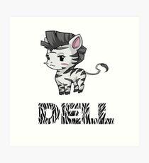 Zebra Dell Art Print