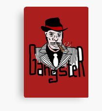 Gangster Cartoon Drawing Canvas Prints Redbubble