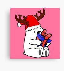 Ice Bear Christmas Canvas Print