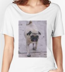 The Distinctive Pug Walk Women's Relaxed Fit T-Shirt
