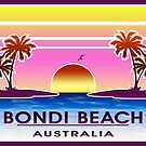 Bondi Beach Australia Sydney Vintage Luggage by MyHandmadeSigns