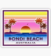 Bondi Beach Australia Sydney Vintage Luggage Sticker