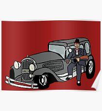 Gangster car Poster