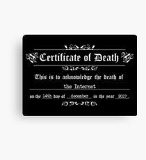 the Internet death Canvas Print