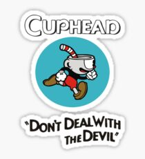 Trending Cuphead Don't Deal Snake Eyes Mens Graphic T Shirt Sticker