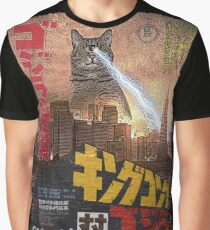 Catzilla Movie Poster Graphic T-Shirt