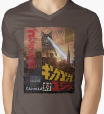 Catzilla Movie Poster Men's V-Neck T-Shirt