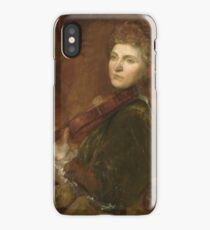 Lady Hallé (Woman Playing Violin) , G F Watts iPhone Case/Skin