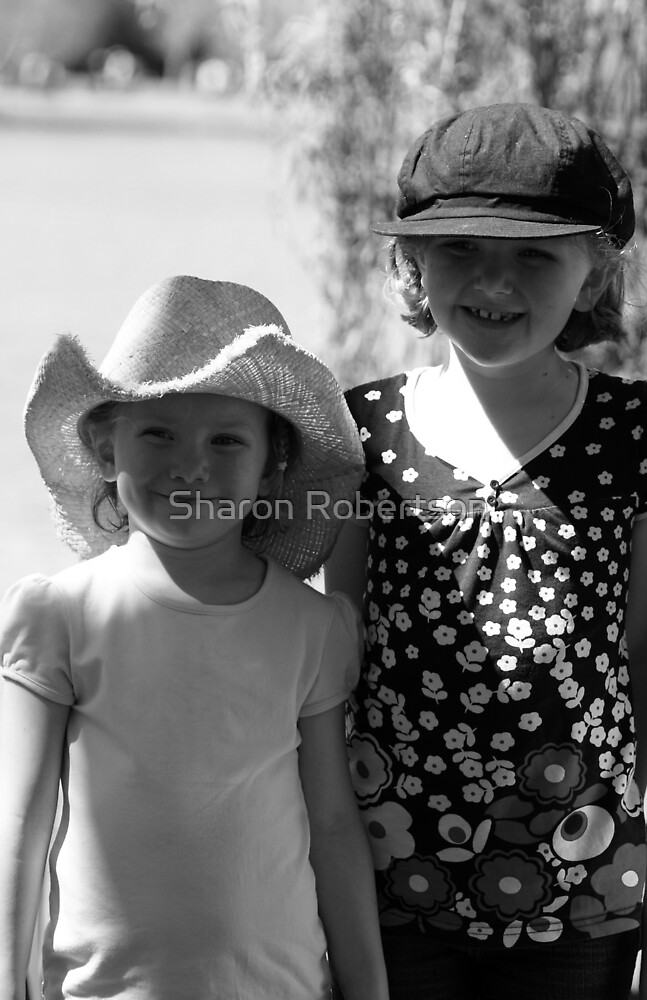 Girls B&W by Sharon Robertson