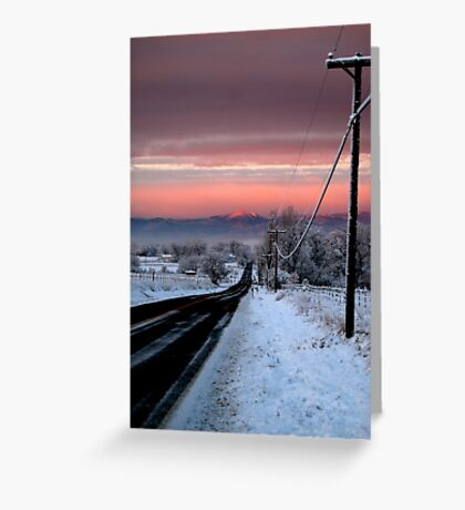 Into Alpenglow  Greeting Card