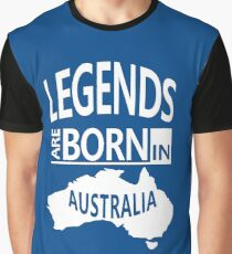 Australian Map Cool Gift-Legends are Born in Australia- Awesome Birthday Present Graphic T-Shirt