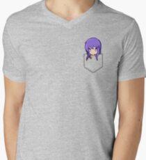 Yuri (pocket) - Doki Doki Literature Club Men's V-Neck T-Shirt