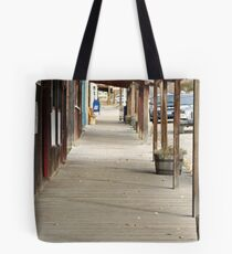 """Ghost Town Boardwalk"" Tote Bag"