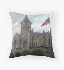 Victoria Co Courthouse, Victoria, TX. 1892 Throw Pillow