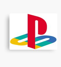 playstation rainbow logo Canvas Print