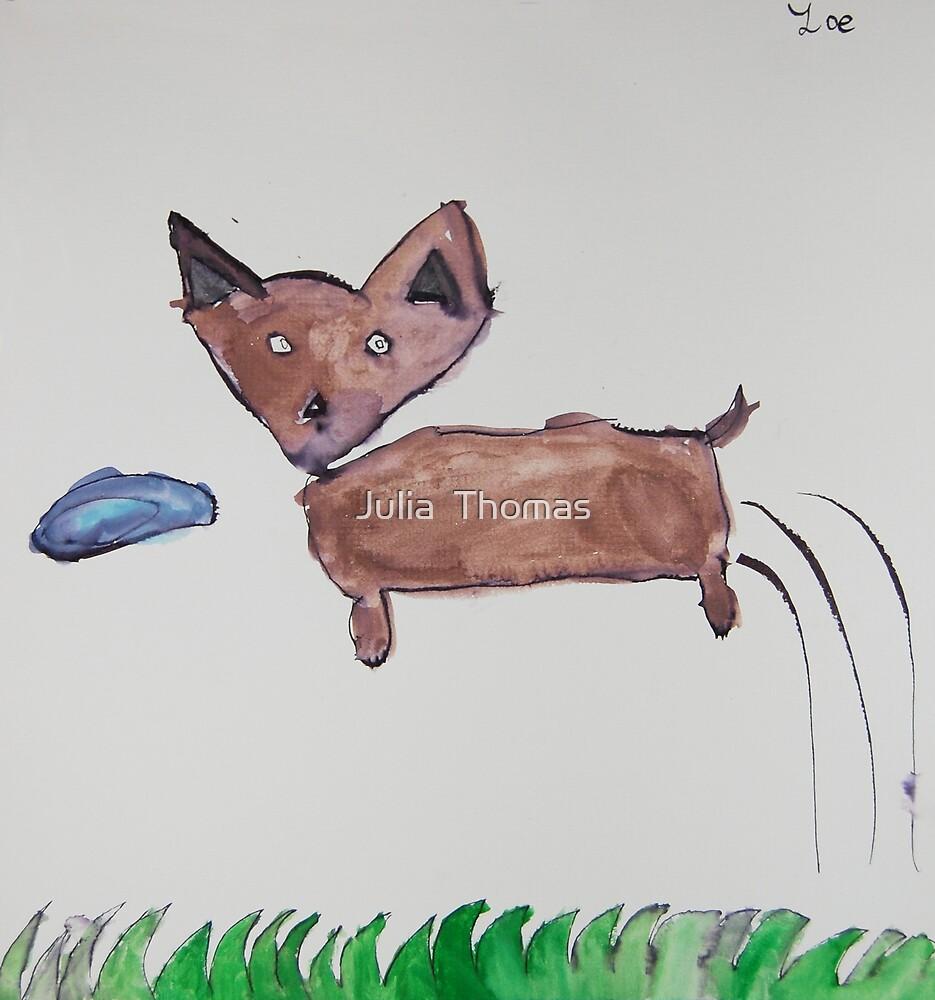 Ren Loves To Fetch by Zoe Thomas age 7 by Julia  Thomas