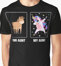 Your Aunt My Aunt Cute Dabbing Unicorn Niece Nephew Graphic T-Shirt
