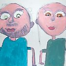 Mum and Dad by Zoe Thomas age 7 by Julia  Thomas