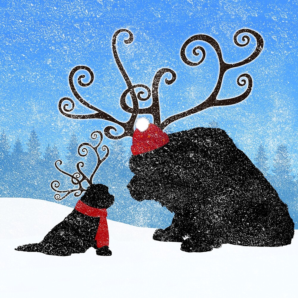 Reindeer Newfies by Christine Mullis