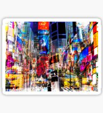 Times Square NYC Abstract Art Sticker