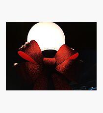 Light Globe on a Snowy Night  Photographic Print