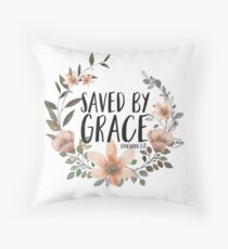 Saved By Grace Throw Pillow