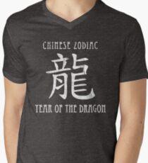 Chinese Zodiac Year of the Dragon design Men's V-Neck T-Shirt