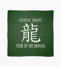 Chinese Zodiac Year of the Dragon design Scarf