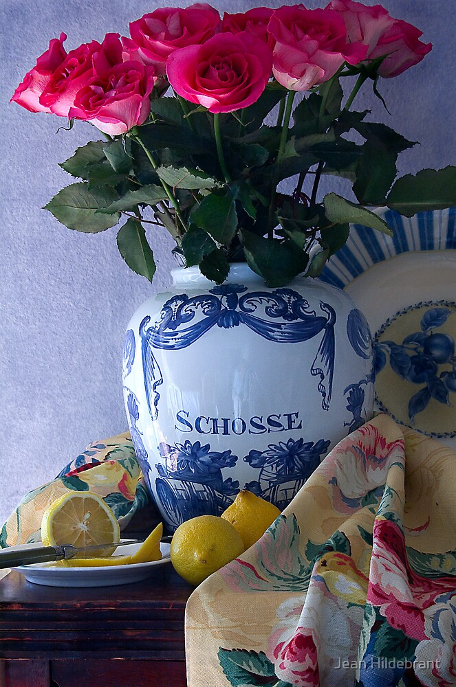 Lemons and Roses by Jean Hildebrant