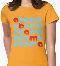 obama : text stacks Womens Fitted T-Shirt