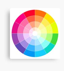 The Colour Wheel Canvas Print