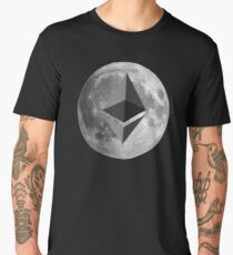 Ether Moon T-Shirt - Crypto Shirt - T-Shirt Men's Premium T-Shirt
